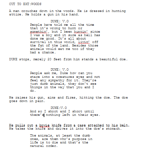 American Horror Story Blood Camp Excerpt Fan Script