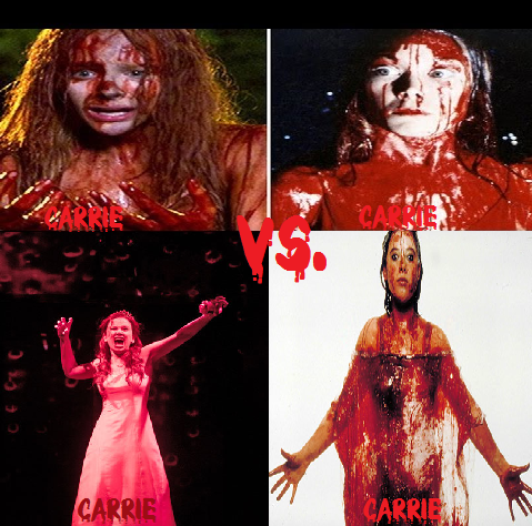 Coming up: Horror Death Match#1 Carrie vs. Carrie vs. Carrie vs. Carrie