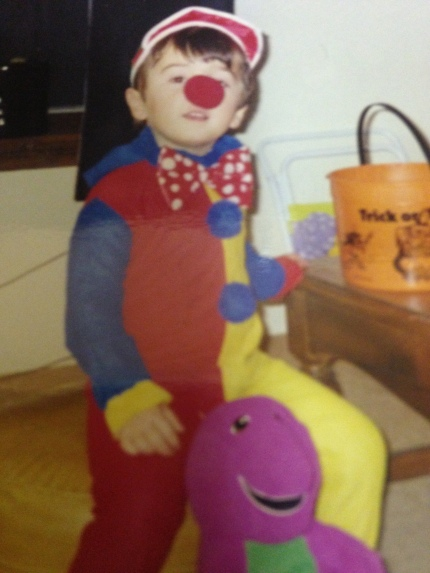 Me Age 2- Clowns were all the rage in the 90's.