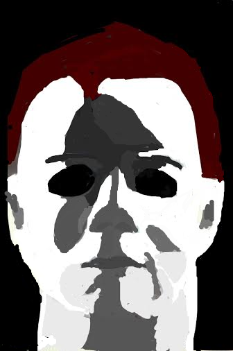 Michael Myers Snapchat drawing