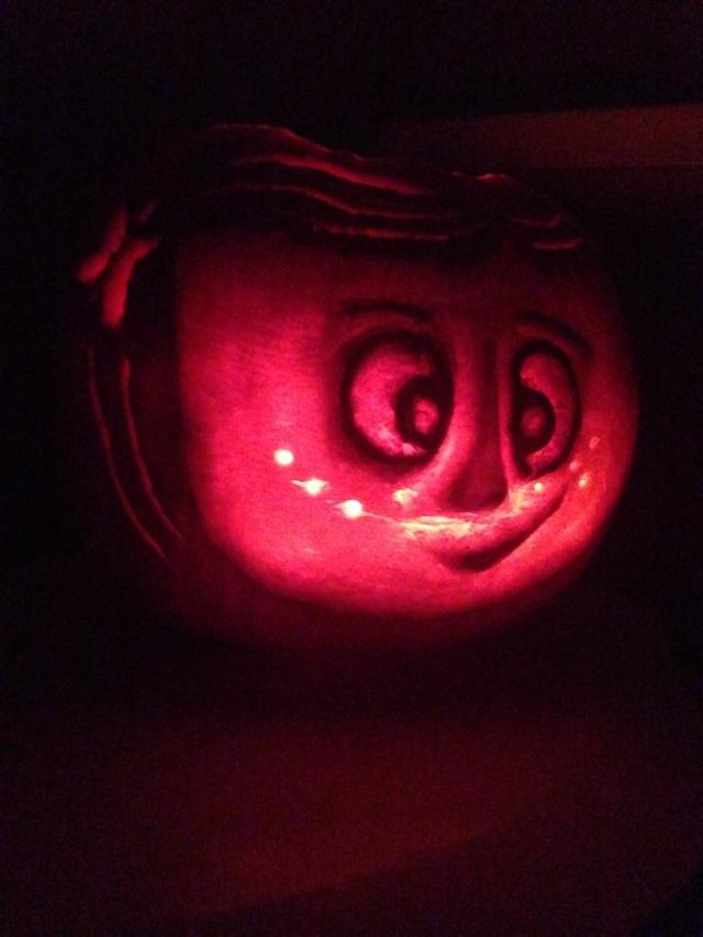 Coraline Pumpkin Carving Littleblogofhorrors666